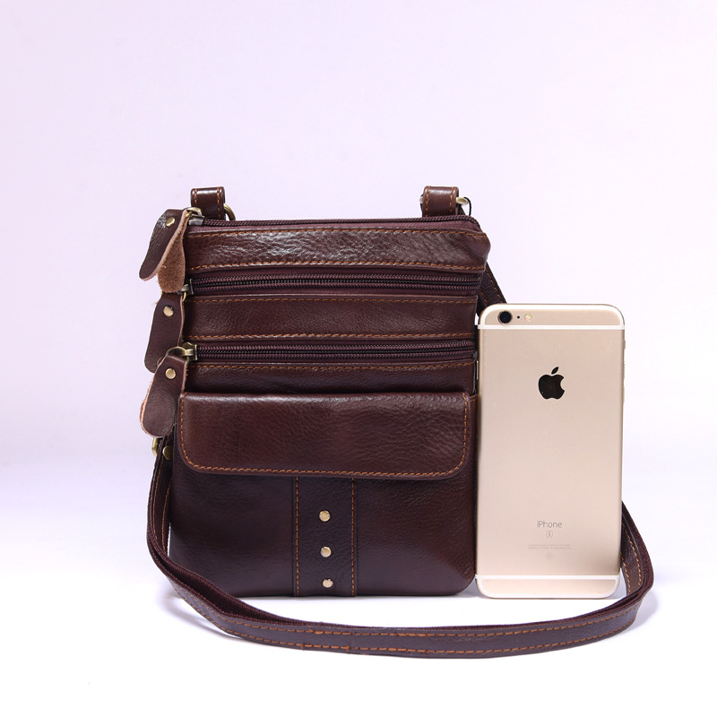 034cb642e9d4 IVOTKOVA Genuine Leather Men Shoulder Bag Small Casual Crossbody Bag for  Women Handbags and Purse Cow Leather Bags Drop Shipping on Aliexpress.com