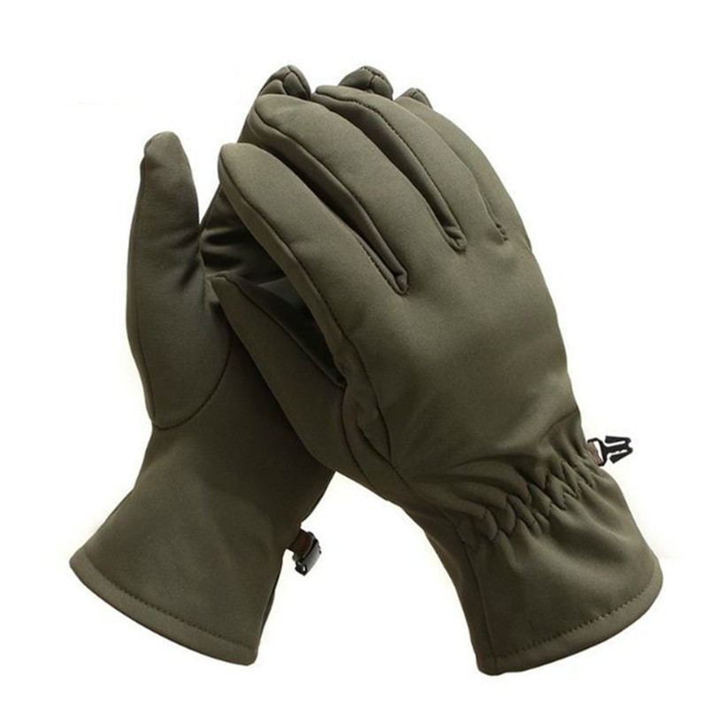 Outdoor Riding Climbing Tactical Spring Winter Waterproof Windproof Full Finger Gloves Hunting SoftShell Wearproof Camo Mittens