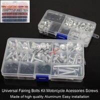 Black silver fairing bolts & nuts fairing screws kit For YAMAHA FZR250 FZR400 FZ6R FJR1300 TZR3XV RZV500 ALL YEARS Fairing bolts