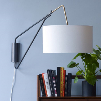 Регулируемые настенные лампы в скандинавском стиле для гостиной, кабинета, спальни, прикроватной тумбочке, отеля, художественные лампы, спе...
