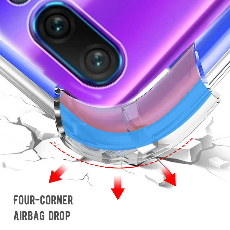Full Protective Anti-knock Case For Huawei P30 Pro P20 Lite Mate 20X Pro AirBag Soft Case For Honor 8X MAX 8Lite Play 10 Y9 2019