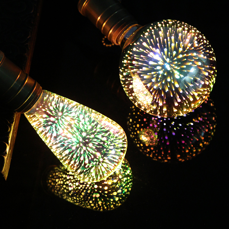 3D LED Decoration Bulb Colourful Star Novelty Party Holiday Light Night Lamp Christmas Decoration Edison Bulb Children Light E27