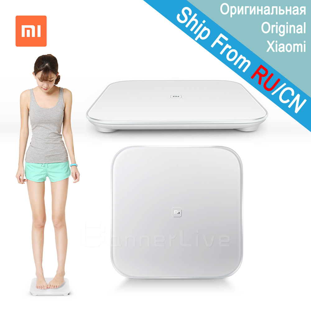 Original Xiaomi Smart Scale 2 Mi Smart Health Weighing Scale Digital MiScale Support Android 4.4 iOS 7 with Bluetooth 4.0 White(China)