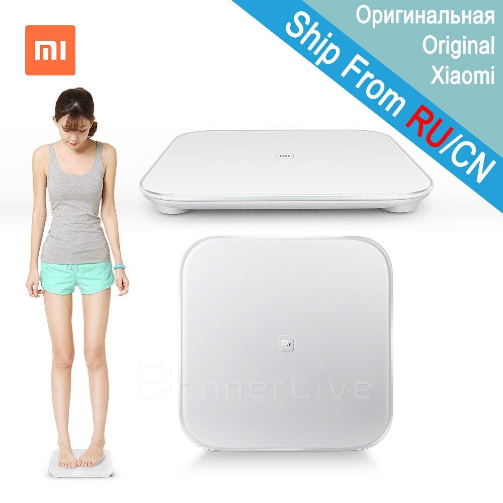 Оригинальный Xiao mi умные весы mi Smart весы для тела цифровые mi весы Поддержка Android 4,4 iOS 7 с Bluetooth 4,0 белый