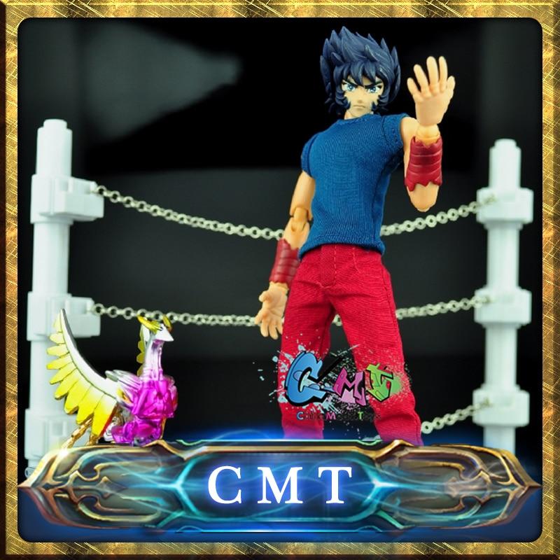где купить  CMT JACK model saint seiya Cloth Myth EX 2.0 Phoenix Ikki  Mufti Cloth form and cloth box Challenge Scene action figure  по лучшей цене