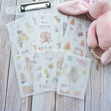 6 Sheets A Little Princess Design Washi Paper Sticker As Scrapbooking DIY Gift Packing Decoration Tag