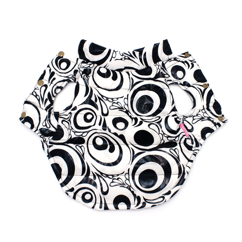 Pawstrip New Print Pet Dog Coat Winter Puppy Jacket Outfit Warm