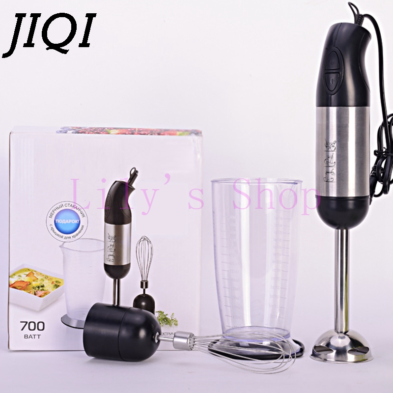 JIQI 700w handheld multifunction baby food machine fruit mixer juicer household milkshake blender eggs beater meat grinder EU US 2l wholesale fruit mixer manual smoothie blender juicer meat grinder with digital temperature control