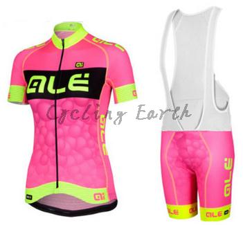 Quick-Dry ALE 2016 #2 women short sleeve cycling jersey bib shorts shirt set bicycle clothes jersey ropa ciclismo clothing