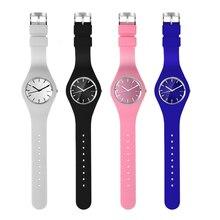 Relógio Mulheres Estudante marca de Moda Casual relógio de quartzo Homens relógios Montre Femme Reloj Mujer Silicone Esporte Relógio de Pulso À Prova D' Água