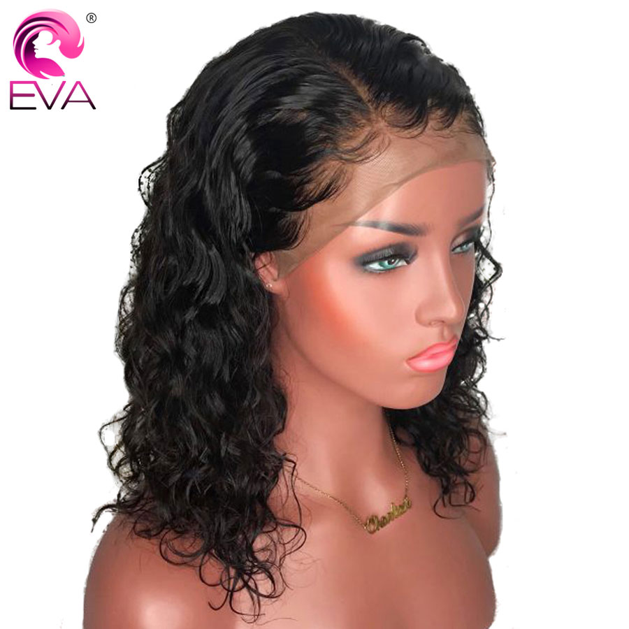 Hair Extensions & Wigs Have An Inquiring Mind Eva 150% Density 13x6 Curly Lace Front Human Hair Wigs Pre Plucked With Baby Hair Brazilian Remy Hair Short Lace Front Bob Wigs