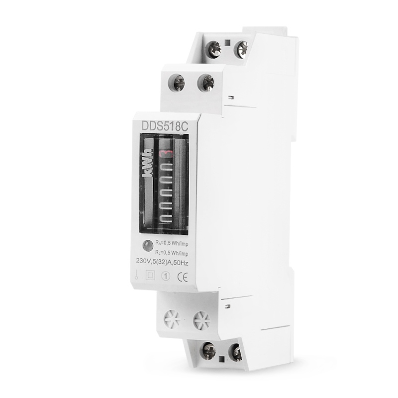 Household Din Rail Single Phase Digital Display <font><b>Electricity</b></font> Power Consumption Wattmeter Energy <font><b>Meter</b></font> Watt kWh 5-32A 220V AC 50Hz image