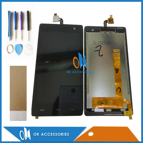 High Quality For Homtom HT20 LCD Display+Touch Screen Digitizer Assembly Black Color With Tools Tape 1PC/Lot