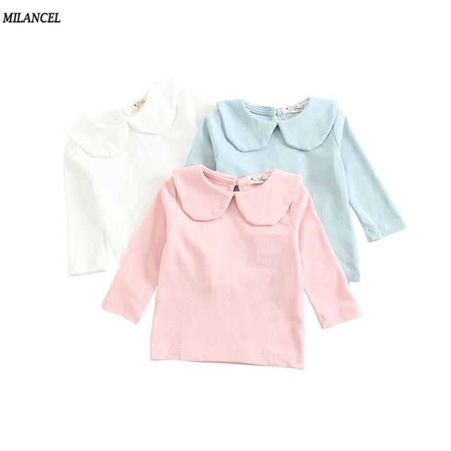 ccf5b25226a700 MILANCEL 2018 dziewczynek odzież bawełniana koszulka dla ubrania dla dzieci  jesień nowe dziewczyny baza bluzka Peter