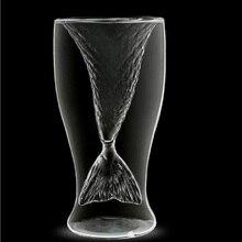 100ml Mermaid Wine Glass Crystal Shot Glasses Vodka Cup Beer Mug Lover Milk Tea Coffee Juice Cups