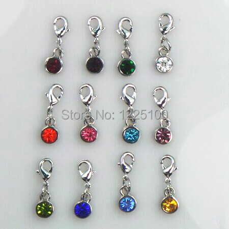 12 Birthstone Colors Floating Charm For Locket Diy Necklace Bracelet 8mm Fashion Jewelry Accessaries