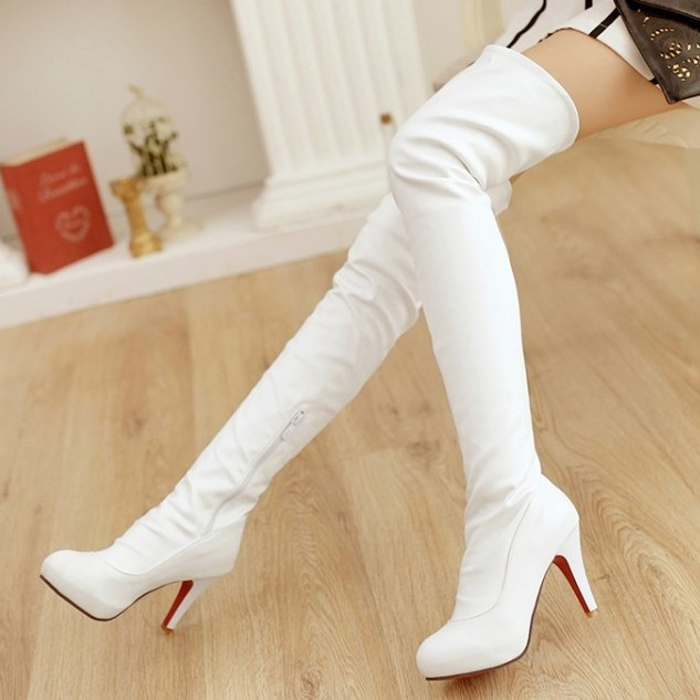 Popular Women White Boots-Buy Cheap Women White Boots lots from ...