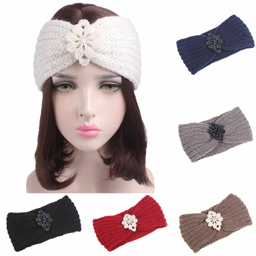Fashion 2018 Women headband Knitting Headband Handmade Keep Warm Hairband  super quality Turban Headwraps Hair Accessories fc86eba23458