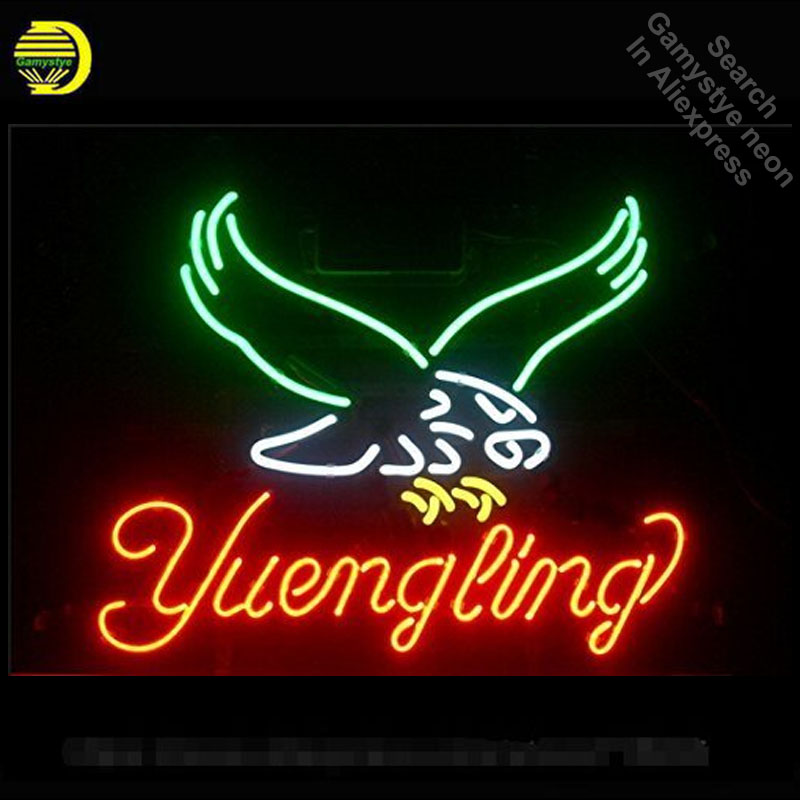Yuengling Eagle Neon Sign neon bulb Sign Real Glass Tube neon lights Recreation Iconic Sign store Display personalized 17x14