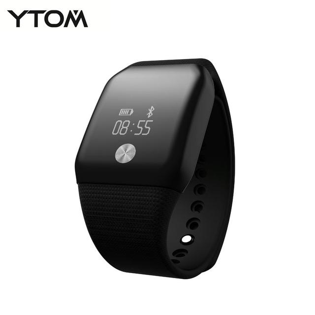 YTOM banda Monitor de Freqüência Cardíaca Do Bluetooth 4.0 Inteligente Pulseira inteligente pulseira De Fitness Rastreador para Android iOS Rússia vs mi banda 2