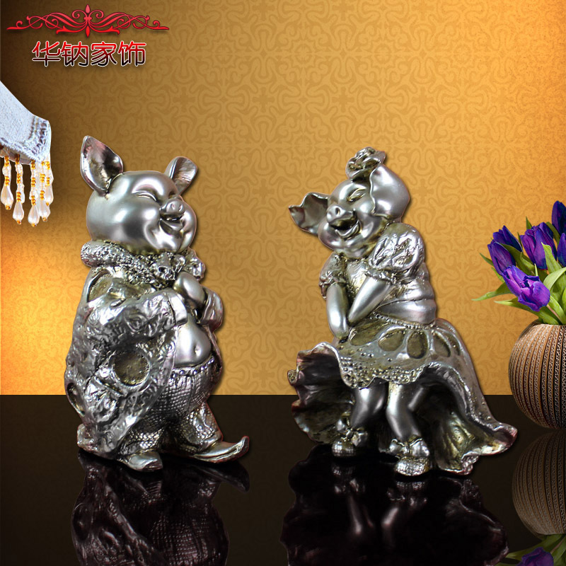 2016 Top Fashion Time Limited European Resin Crafts Couple Deer