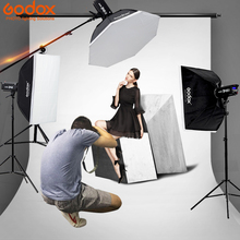 Godox Photo Studio luz 3xDP400 400WS Flash strobe Fotografia Estande Luz Softbox Kits para o Casamento, Blogs de comida