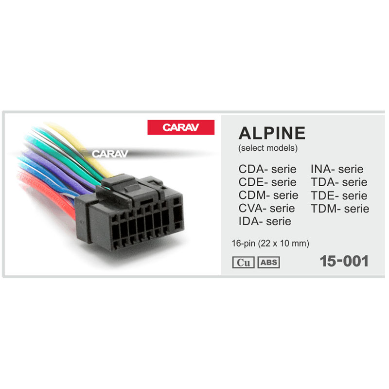 Alpine Wiring Harness Car Stereo 16 pin Wire Connector sevketmakina.comsevketmakina.com
