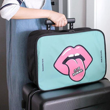 RUPUTIN de dibujos animados bolsa de cosméticos de gran capacidad maquillaje casos baño portátil organizador de almacenamiento bolsas bolsa impermeable