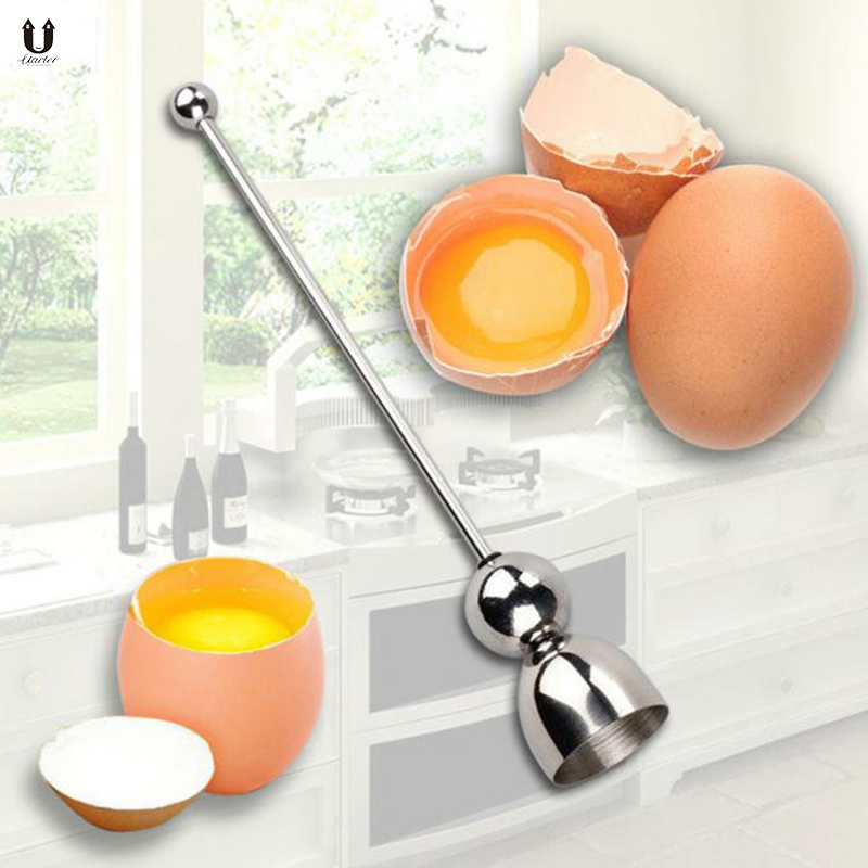UARTER High quality Stainless Steel Egg Opener Raw Eggshell Topper Cutter Kitchen Tools Kitchen Gadgets