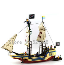 Pirates boat Toys for children DIY Building Blocks self-locking bricks Compatible with Lego
