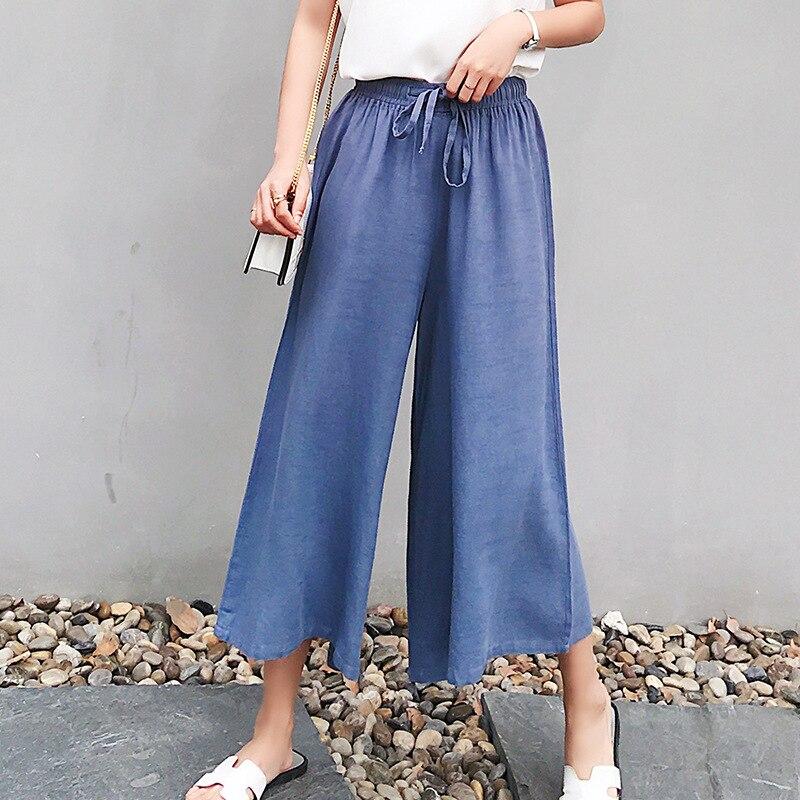 YuooMuoo Casual Women Harajuku   Wide     Leg     Pants   Korean Ankle Length Loose Female Streetwear Summer Sense High Waist Trousers