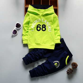 Toddler Tracksuit Autumn Baby Clothing Sets Children Boys Girls Fashion Brand Clothes Kids Hooded T-shirt And Pants 2 Pcs Suits 4