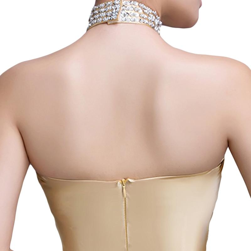 DongCMY 2019 nymodig lång designklänning av soiree courte Guldfärg - Särskilda tillfällen klänningar - Foto 5