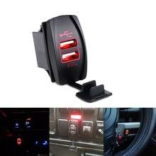 12 v-24 v 3.1A Dual USB розетка Зарядное устройство Мощность адаптер Автомобиль Мотоцикл usb-прикуриватель, стилизованный под ручку адаптер Выход 2 Порты грузовик ATV Лодка