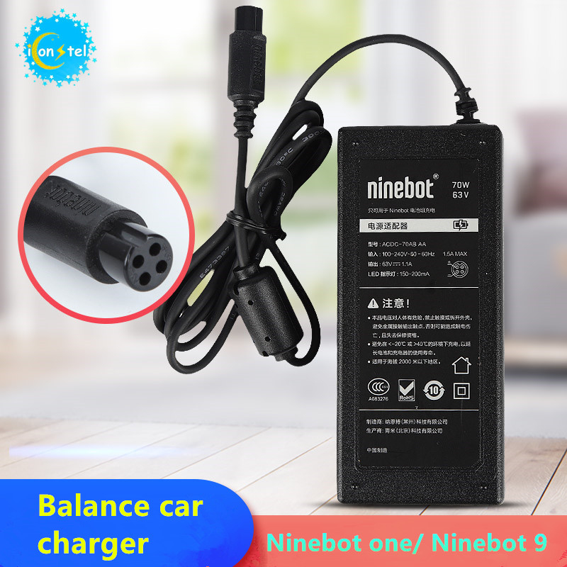 iConstel Full New Balance car charger for Xiaomi ninebot 9/ ninebot one / mini pro original Charging adapter 70W 63V iConstel Full New Balance car charger for Xiaomi ninebot 9/ ninebot one / mini pro original Charging adapter 70W 63V