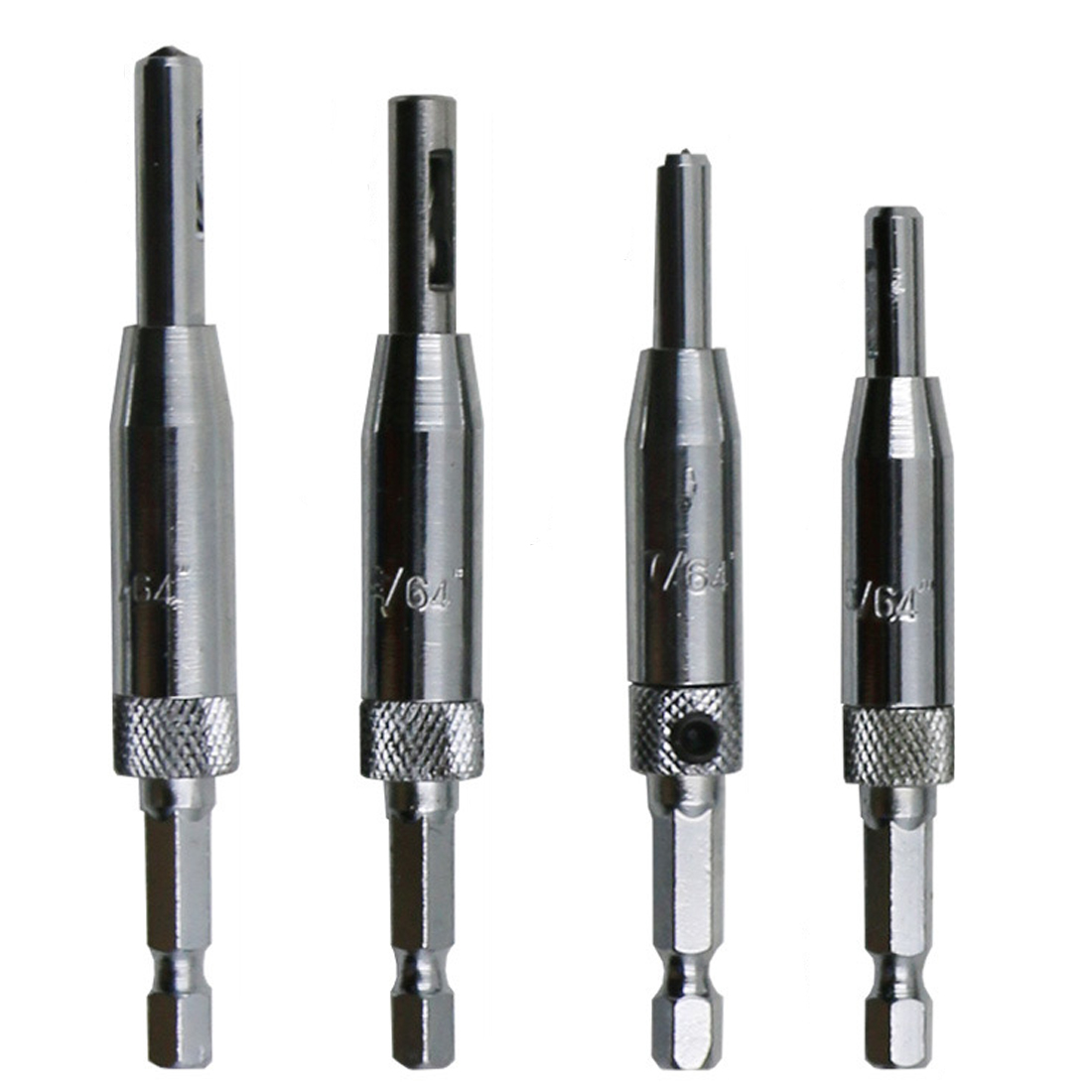 4pcs/lot HSS Self Centering Drill Bits Hinge Drill Bit Door Cabinet 5/64 7/64 9/64 11/64 For Carpenter Furniture Makers
