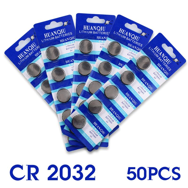 Heißer verkauf 50 Stücke 3 V Lithium-Knopfzellen Knopfbatterie Bord ECR2032 CR2032 5004LC...
