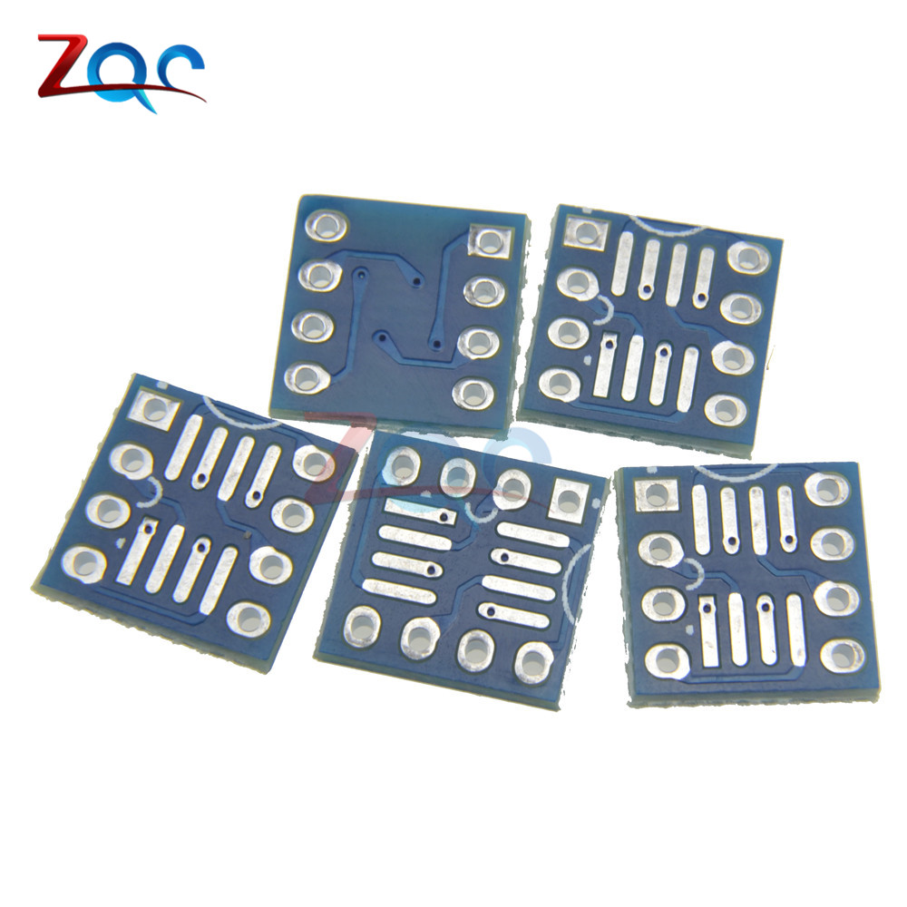 10PCS SOP8 SO8 SOIC8 TO DIP8 Interposer board PCB Board Adapter Plate New электронные компоненты 25 16 sop8 sop16 dip8 pcb