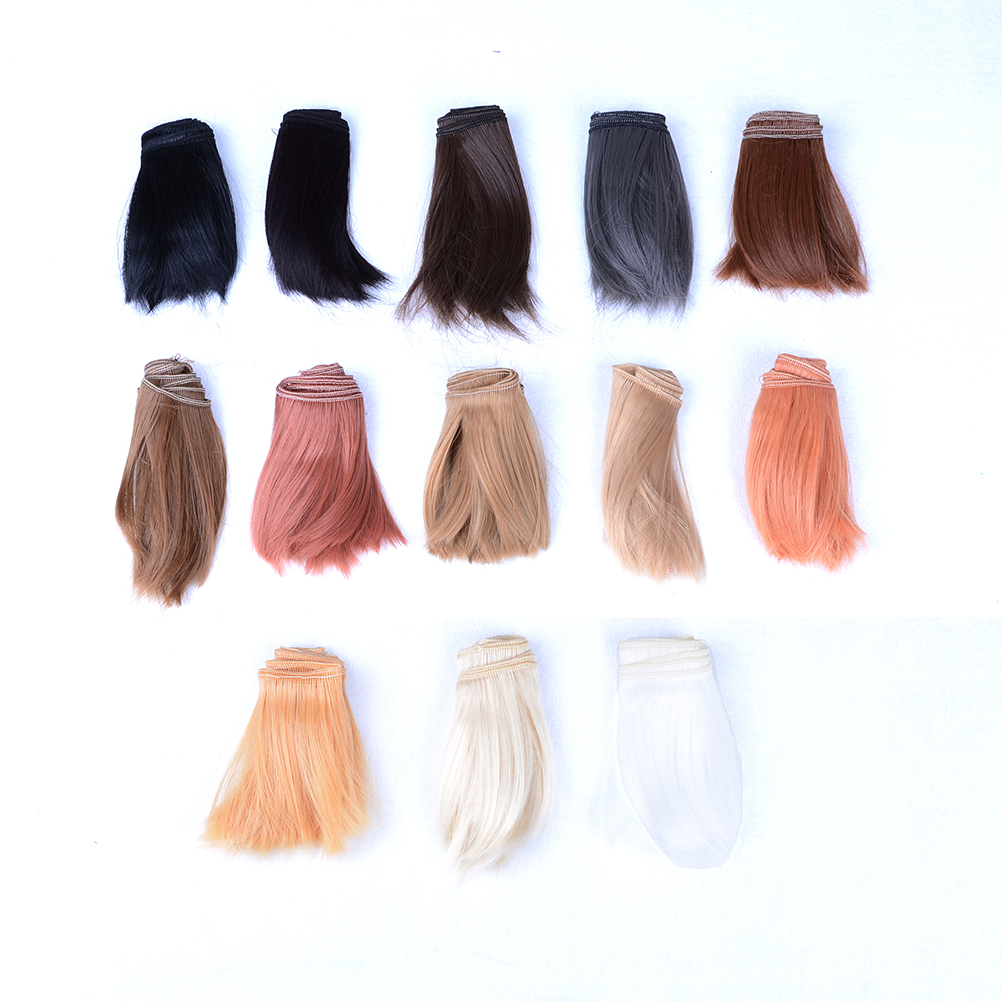 10cmx100cm DIY New Colorful Welf Fringe Bangs Wig Extension High-temperature Wire Handmade Hair for <font><b>1/3</b></font> 1/4 <font><b>BJD</b></font> Doll <font><b>Accessories</b></font> image