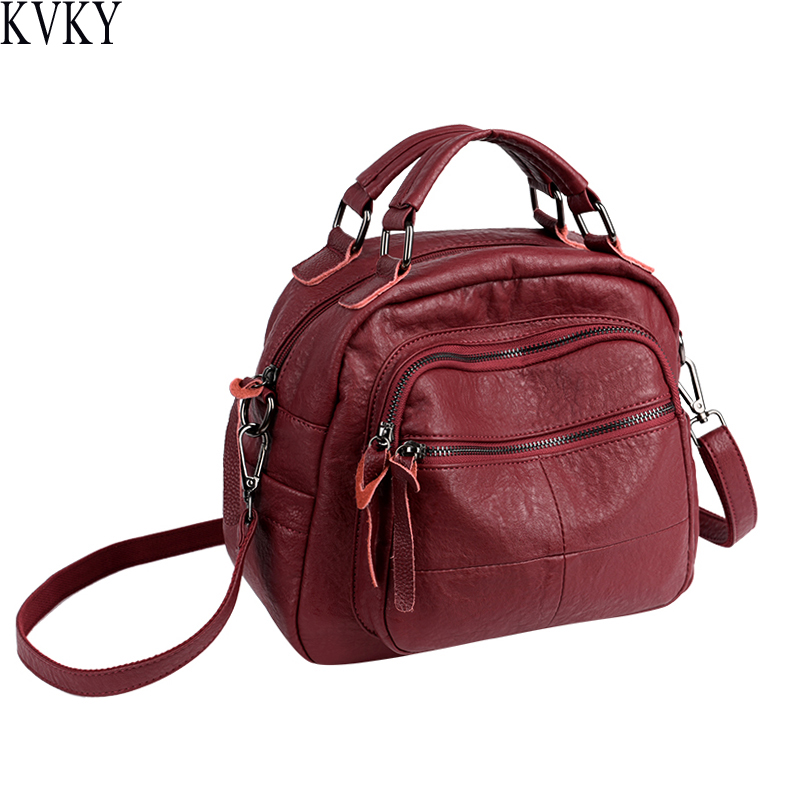 2018 New PU Leather Lady Casual Crossbody Bag Retro Tote Ladies Portable Shoulder Bag High Quality Large Capacity Handbag 2018 new women bag ladies shoulder bag high quality pu leather ladies handbag large capacity tote big female shopping bag ll491