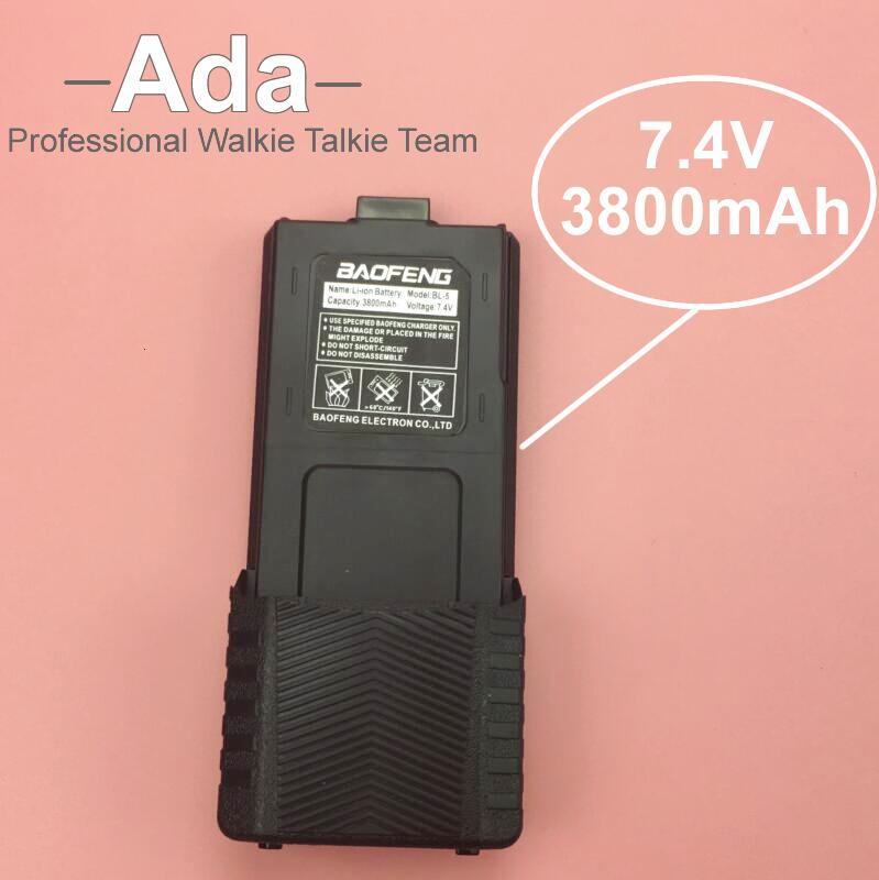High Capacity BaoFeng UV 5R Battery 7 4v 3800mAh For Radio Walkie Talkie BaoFeng Accessories