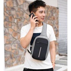 Image 5 - INHO CHANCY backpack school bag for teenagers design frame USB Charge Computer Backpacks Anti theft Waterproof for Men Women