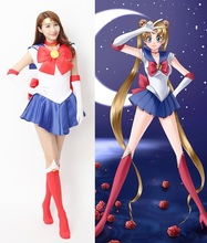 High Quality 2017 New Anime Sailor Moon Cosplay Costume Carnaval/Halloween Costumes for Women/Kids Custom Any Size