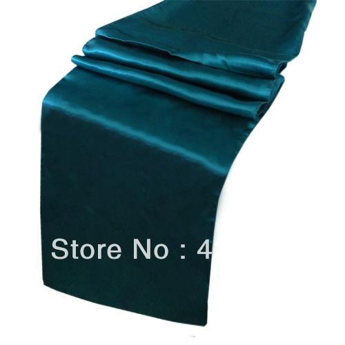 Wholesale 10pcs Teal Blue Satin Table Runner 30cmX275cm Wedding/HOT/Free  Shipping()