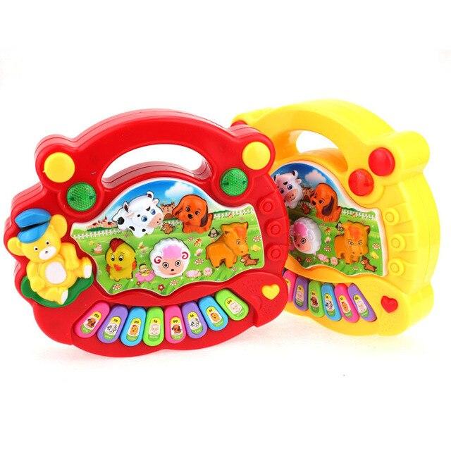 Baby Дети Музыкальных Учебных Скотный двор Фортепиано Развивающие Музыкальные Игрушки Горячий Продавать