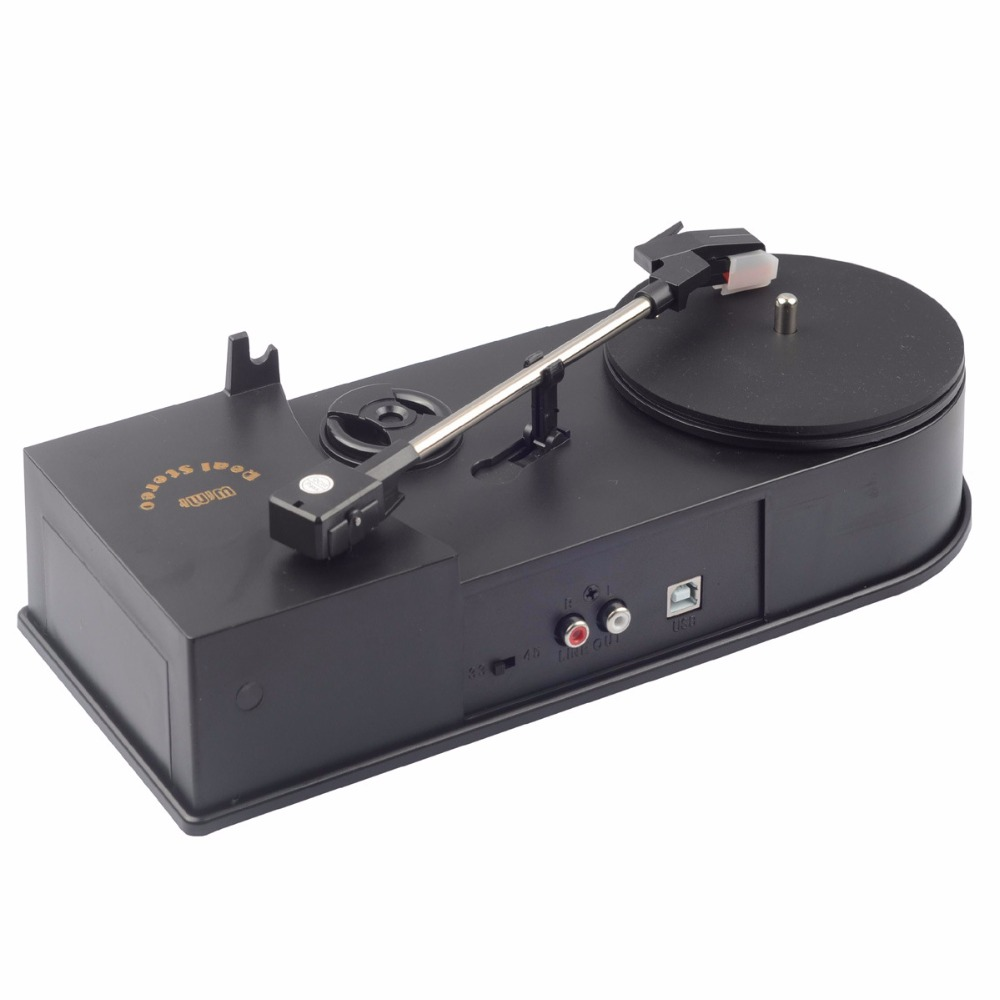 2019 New USB Portable Mini Vinyl Turntable Audio Player Vinyl Turntable To MP3/WAV/CD Converter Without The PC 33RPM C008