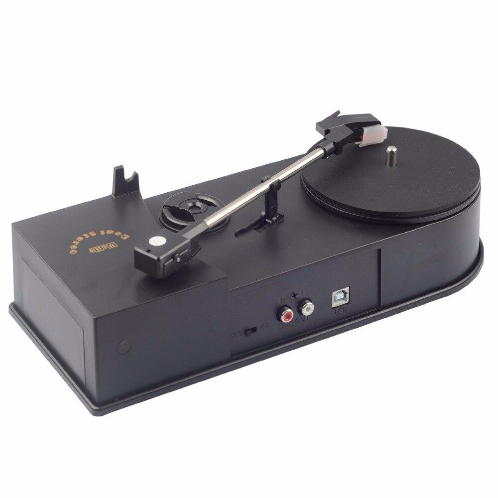 2018 Nouveau USB Portable Mini Vinyle Platine Audio Lecteur De Disque Platine Vinyle à MP3/WAV/CD Convertisseur sans le PC 33 rpm C008