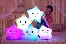 μαξιλάρι πολύχρωμο μαξιλάρι σώματος αστέρι λάμψη LED φωτεινό μαξιλάρι μαξιλάρι μαξιλάρι μαλακό δώρο χαλάρωσης χαμόγελο 5 χρώματα μαξιλάρι σώματος