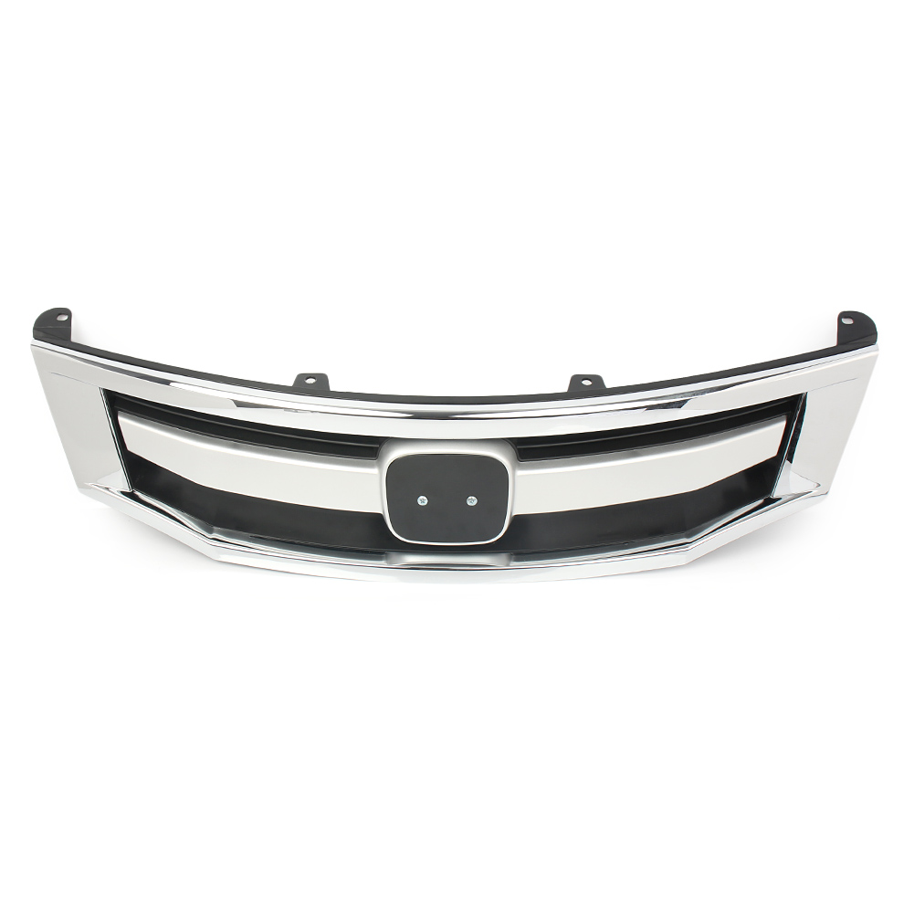 Aliexpress Com Buy Chrome Front Upper Grill Grille For: For Honda Accord Front Bumper Sport Style Chrome Grille