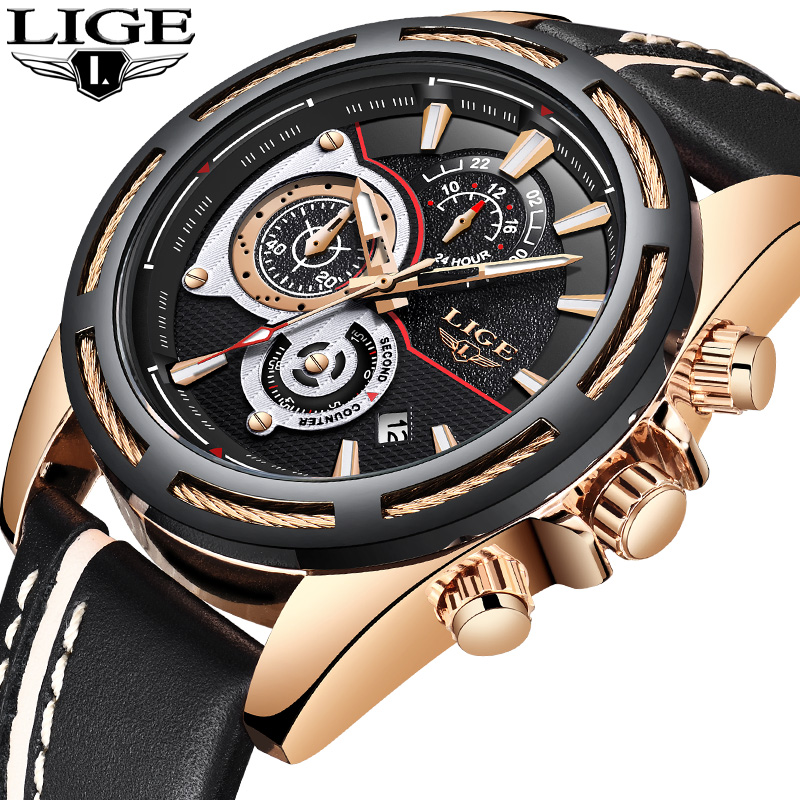 2018 New LIGE Men Watches Top Brand Luxury Chronograph Sports Clock Men Military Waterproof Wrist Watch Male Relogio Masculino top luxury brand men military waterproof rubber led sports watches men s clock male wrist watch relogio masculino 2017